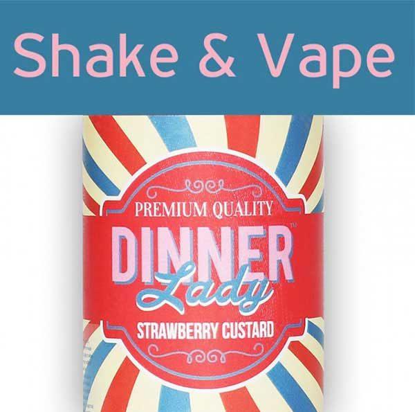 Dinner Lady Strawberry Custard (Mix & Vape)