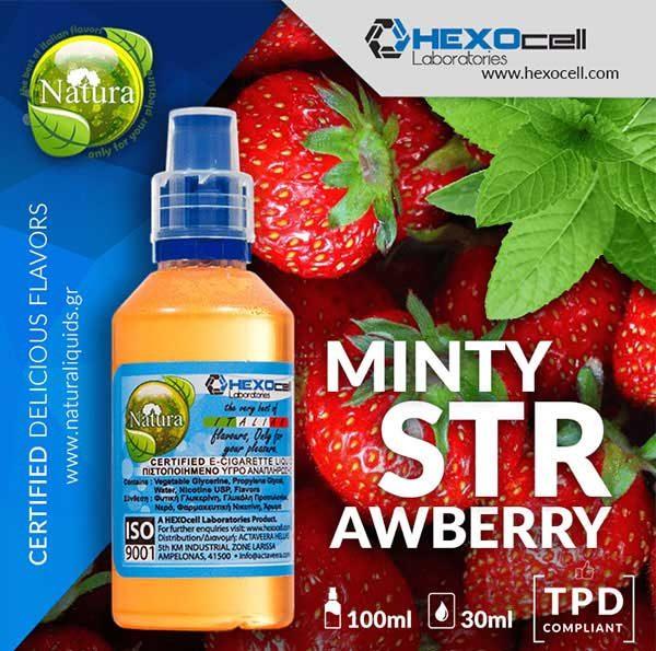 Natura - Minty Strawberry (Mix Shake Vape)