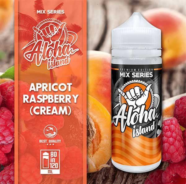 Aloha Island Apricot, Raspberry & Cream (Mix Shake Vape)