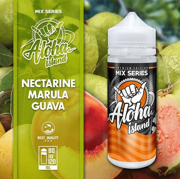 Aloha Island Nectarine, Marula & Guava (Mix Shake Vape)