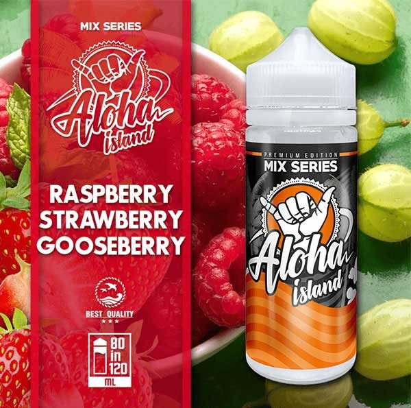 Aloha Island Raspberry, Strawberry & Gooseberry (Mix Shake Vape)