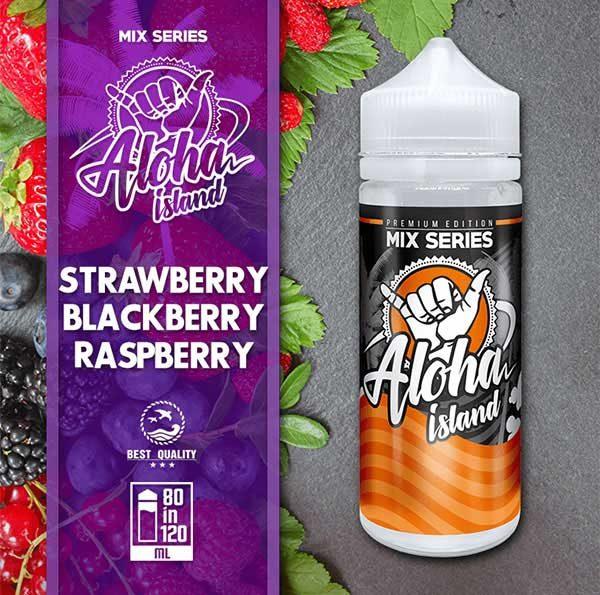 Aloha Island Strawberry, Blackberry & Raspberry (Mix Shake Vape)