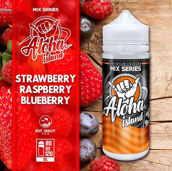 Aloha Island Strawberry, Raspberry & Blueberry (Mix Shake Vape)